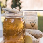 Refreshing ginger/honey tea