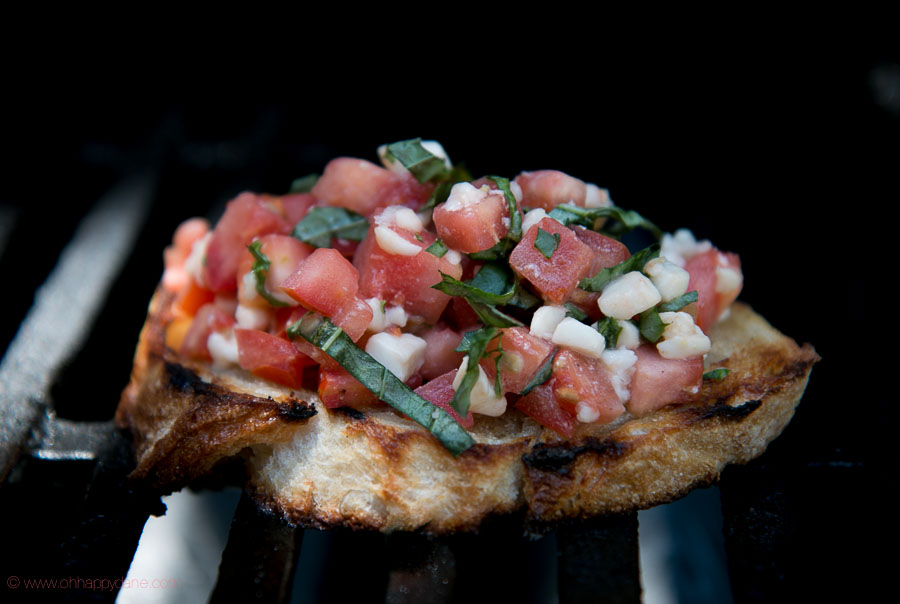 Bruschetta with Tomato, Mozzarella and Basil