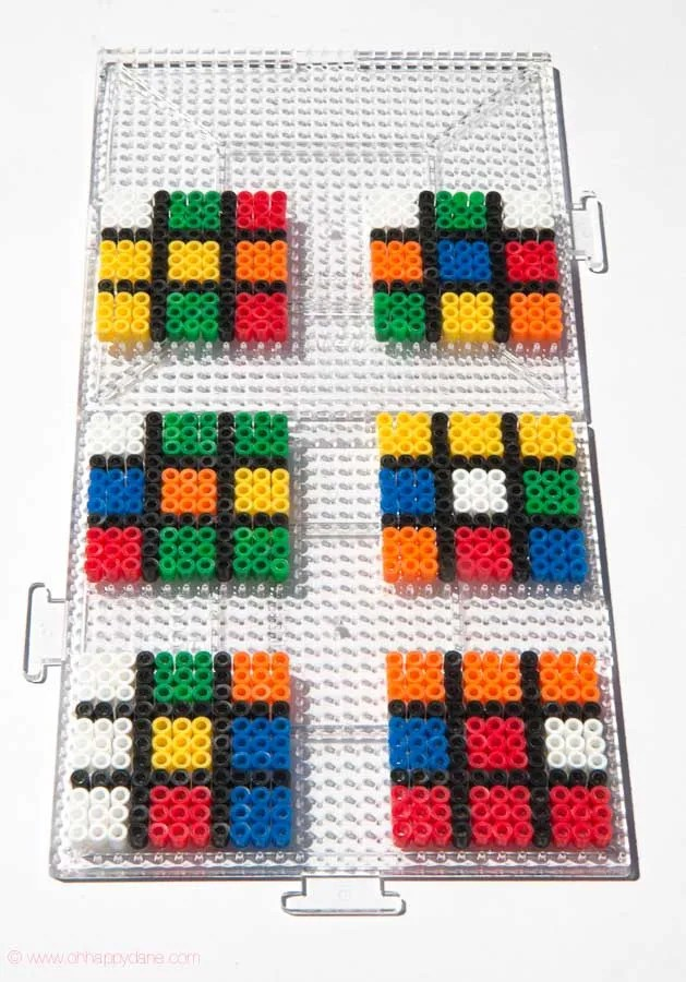 Hama Perler Beads in 3D