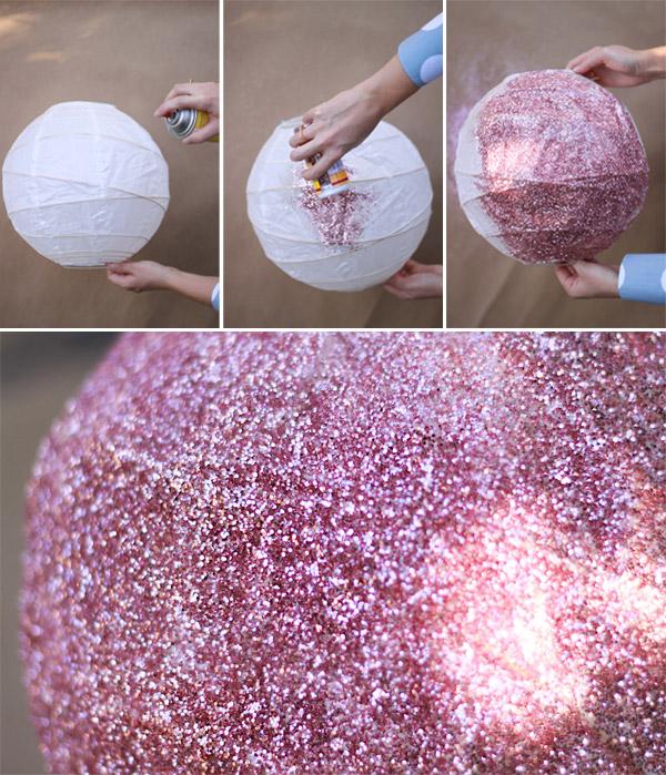 Glitter disco ball
