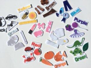 felt board, color association, toddler toy, montessori