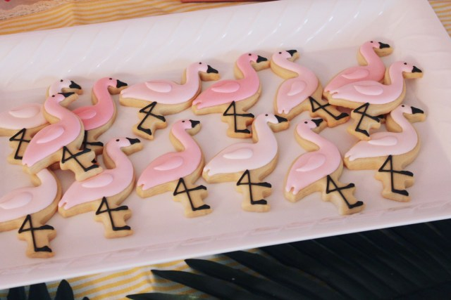 Flamingo Cookies | Copacabana First Birthday Party