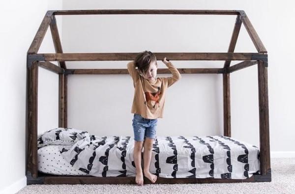 Montessori Floor Toddler bed, floor bed, toddler bed, toddler floor bed, montessori bedroom, toddler montessori, house frame bed, toddler beds