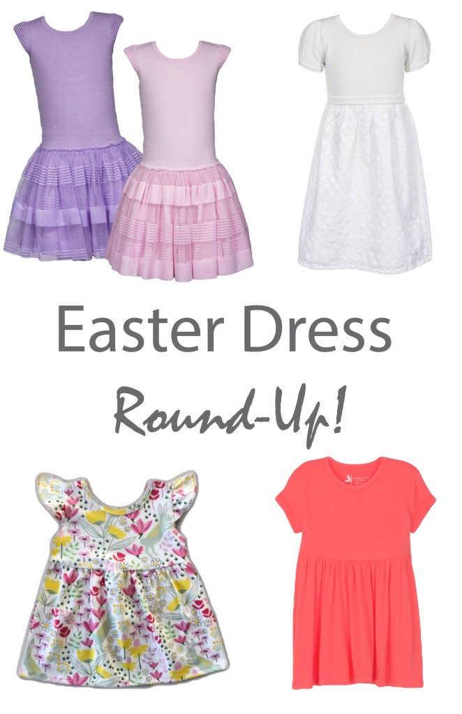 Spring Bunny Flutter Sleeve Swing Dress from Vivie & Ash: I love this design so much and the fact that it has little bunnies in it make it a home run for me! It's springy and bright and would make the perfect Easter dress for your little spring bunny!