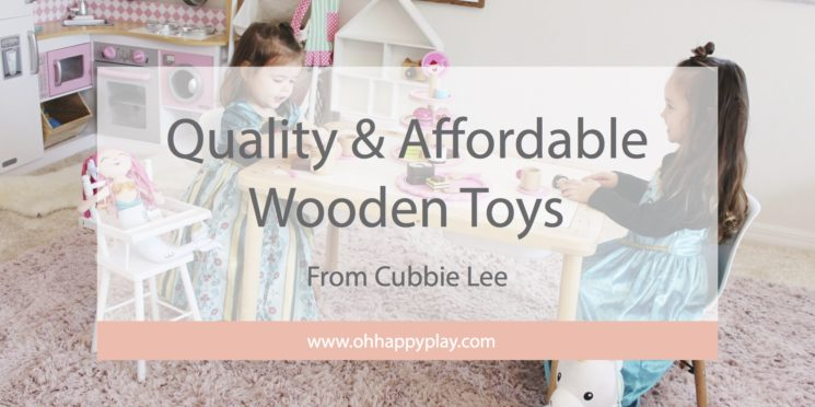 wooden toys, quality wooden toys, open ended play, montessori play, tea party toys, cabbie lee toy company, gifts for toddlers, wooden toy sets, oh happy play