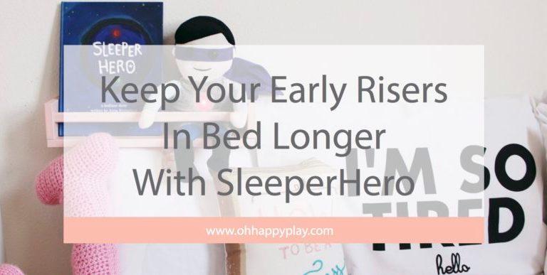 ok to wake clock, sleeper hero, sleeperhero, night clock, clock for kids, children's book, sleep routine, sleep schedule, red light, green light, oh happy play