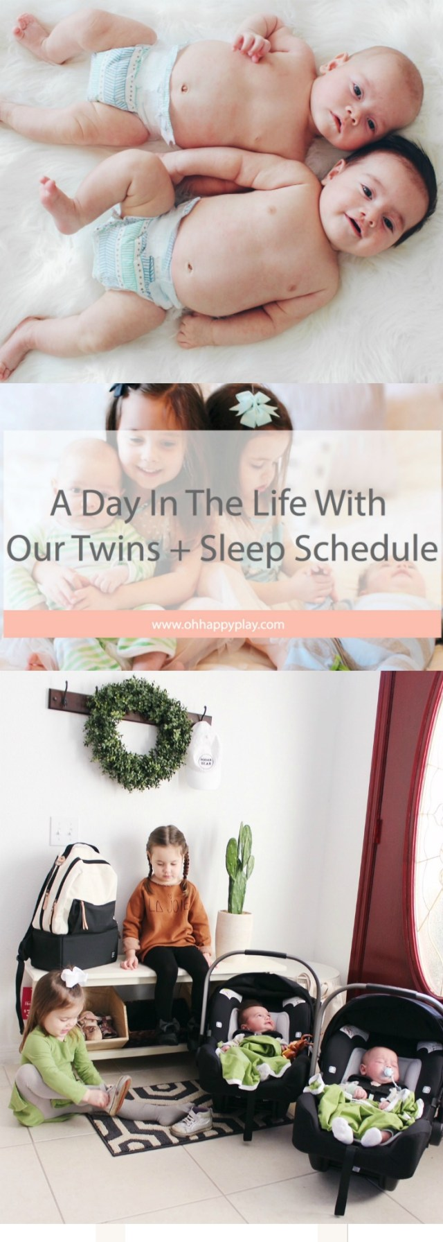 Get an in depth look at life with twins with this twins sleep schedule from Florida motherhood blogger, Oh Happy Play. Check it out!