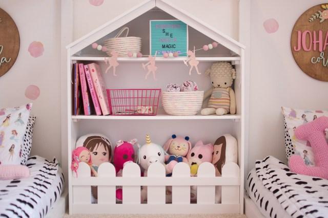 Bookshelf Girls Room