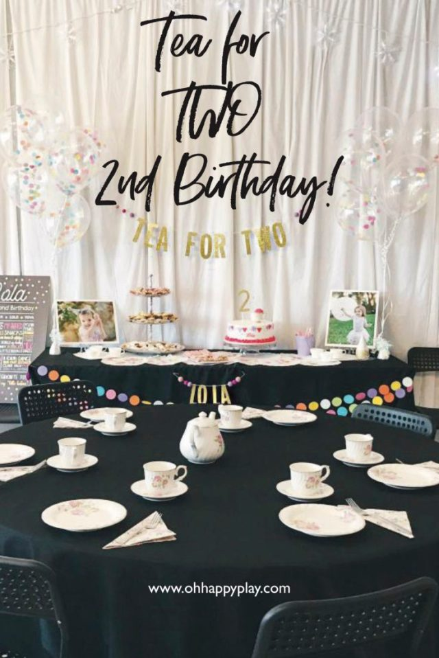 tea for two, 2nd birthday party