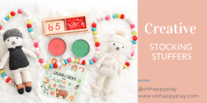 creative stocking stuffers, stocking stuffers for kids, stockings, items for stockings, gifts for kids, Montessori gifts