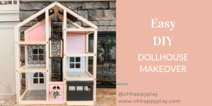 easy DIY dollhouse makeover, dollhouse hack, Ikea hack, modern dollhouse, dollhouse for toddlers