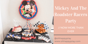 mickey and the roadster racers party, Mickey Mouse party, kids birthday party, Disney birthday party, Disney partner, oh twodles birthday party