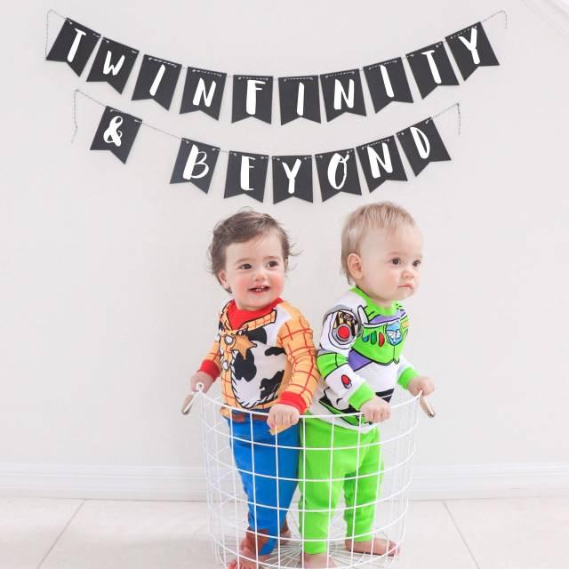 twinfinity and beyond, best twin boy halloween costume idea, twin boy Disney halloween costume