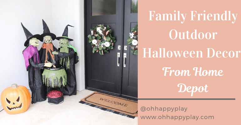 the home depot halloween, Fall flowers, light up jack-o-lantern, patio ideas, halloween decor
