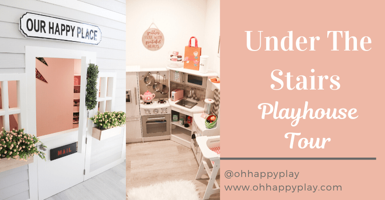 play kitchen, play food, play kitchen storage, playroom storage, Kidkraft corner kitchen