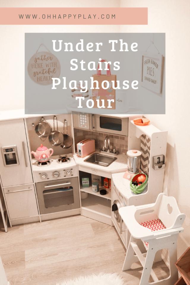 play kitchen, play food, play kitchen storage, playroom storage, Kidkraft corner kitchen