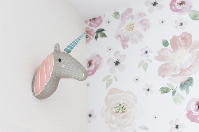 unicorn head for wall, wall art unicorn head, land of nod unicorn head, crate & kids unicorn head