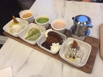 affogato flight drip new orleans, vietnamese iced coffee, matcha, hot chocolate, gourmet frozen treats.