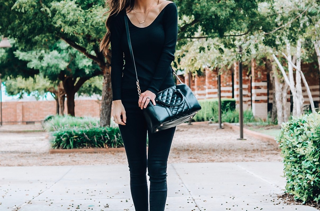 black off the shoulder Express top