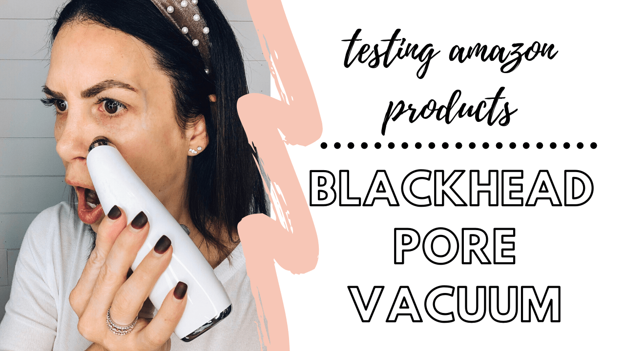 testing weird amazon products. testing blackhead pore vacuum