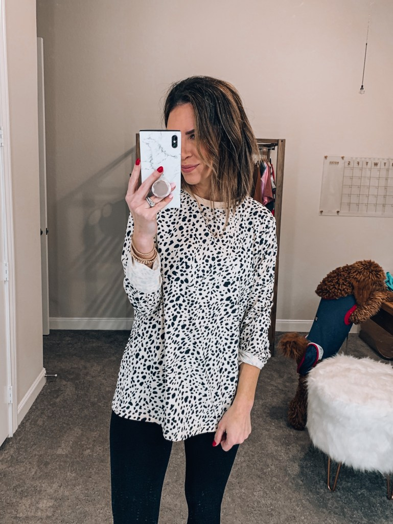 amazon leopard top
