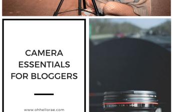 Camera Essentials, camera essentials for bloggers