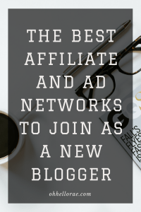 new blogger ad and affiliate networks to join