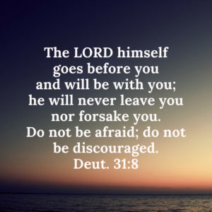 Deut 31:8 - The Lord goes before you and never leaves you