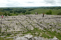 Image from the top of Malham Cove