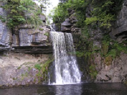 Image of Thornton Waterfall on the Ingleton Waterfall walk
