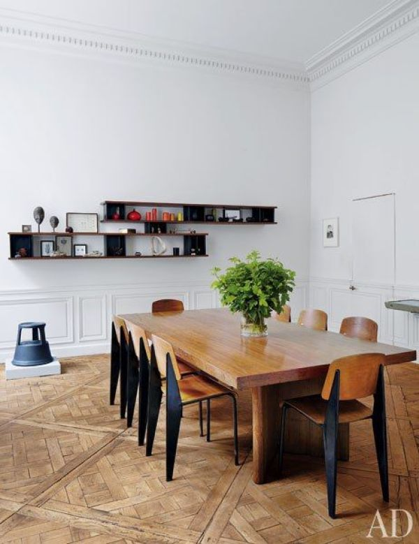 Parquetry Flooring via Oh, I Design Blog