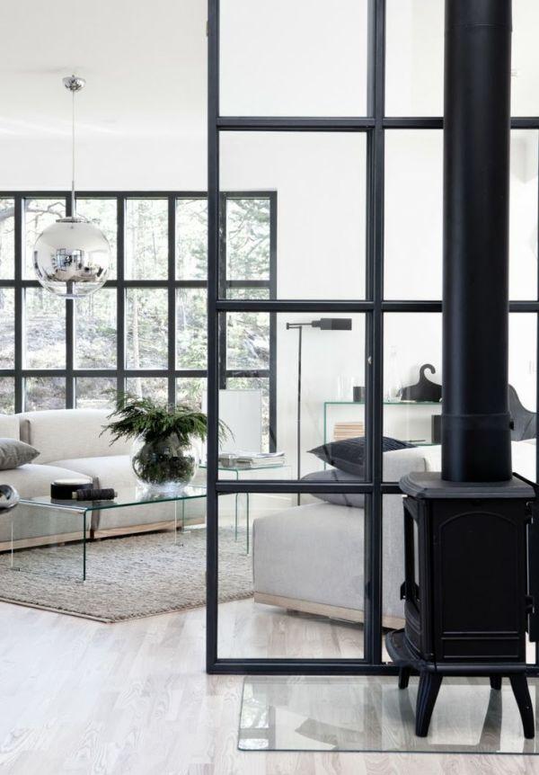 black & white interiors via oh, i design blog