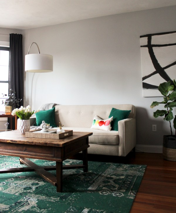 FLOR's Remembrance Rug in Emerald via Oh, I Design Blog