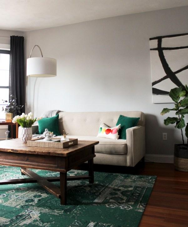 FLOR's Remembrance Rug in Emerald via Oh, I Design Blog