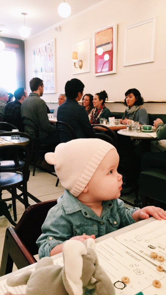 Traveling with a baby on Oh, I Design Blog