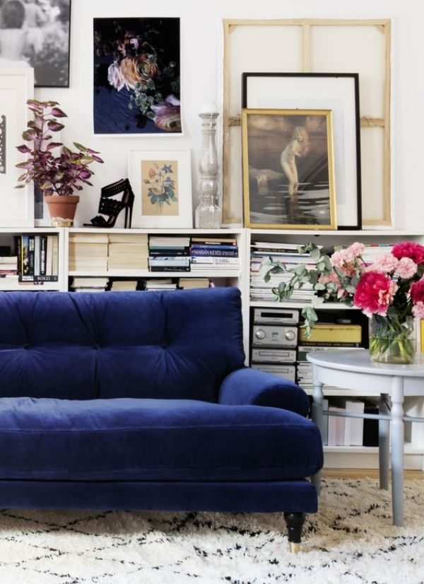 Velvet Trend: Interiors // via Oh, I Design Blog