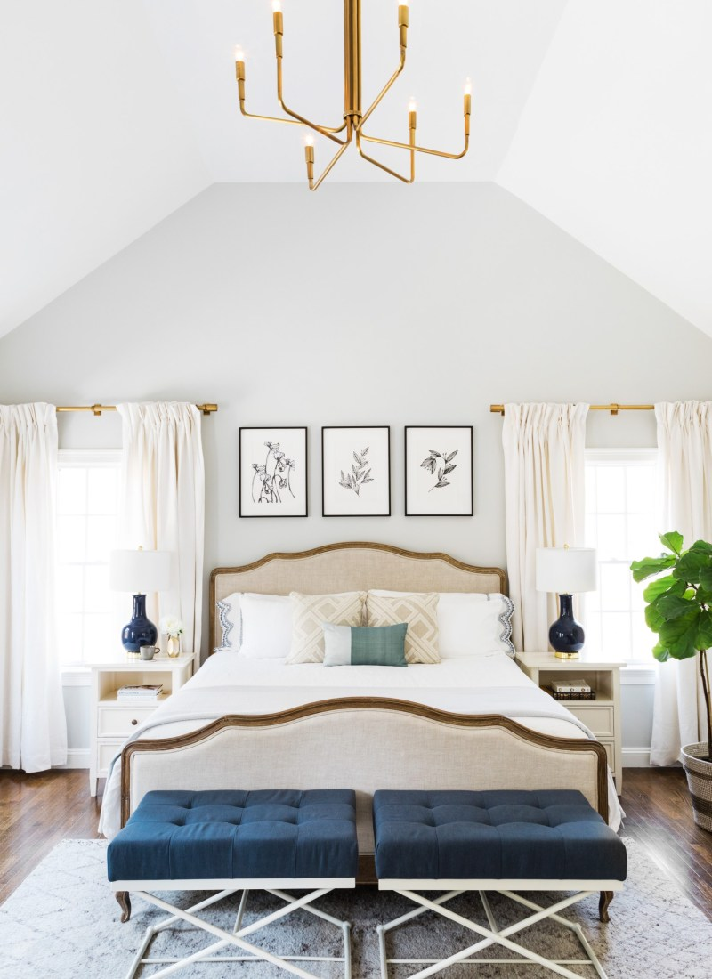 bright and neutral master bedroom