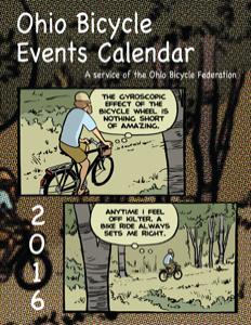 Cover: 2016 Ohio Bicycle Events Calendar