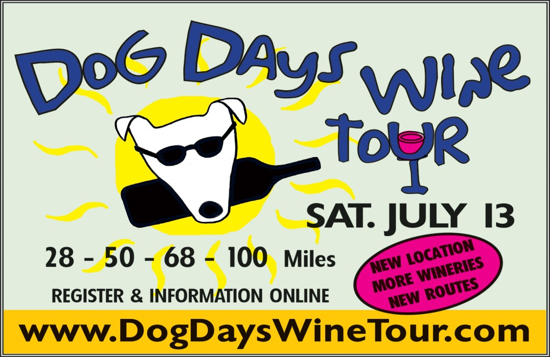 Image: Ad for 2019 Dog Days Wine Tour