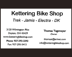 Image: Ad for Kettering Bike Shop
