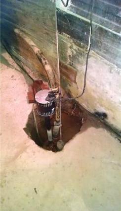 Poorly made DIY sump pump