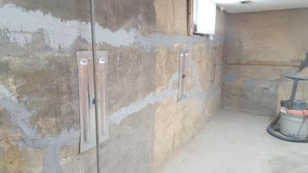 wall anchors installed in home