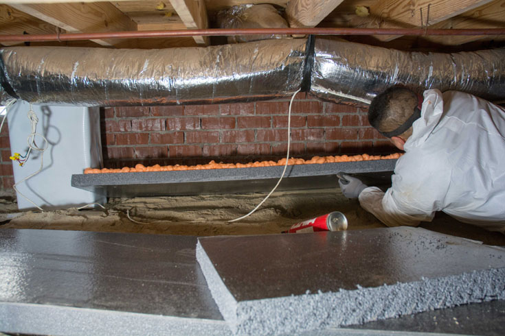 encapsulate or insulate your crawl space