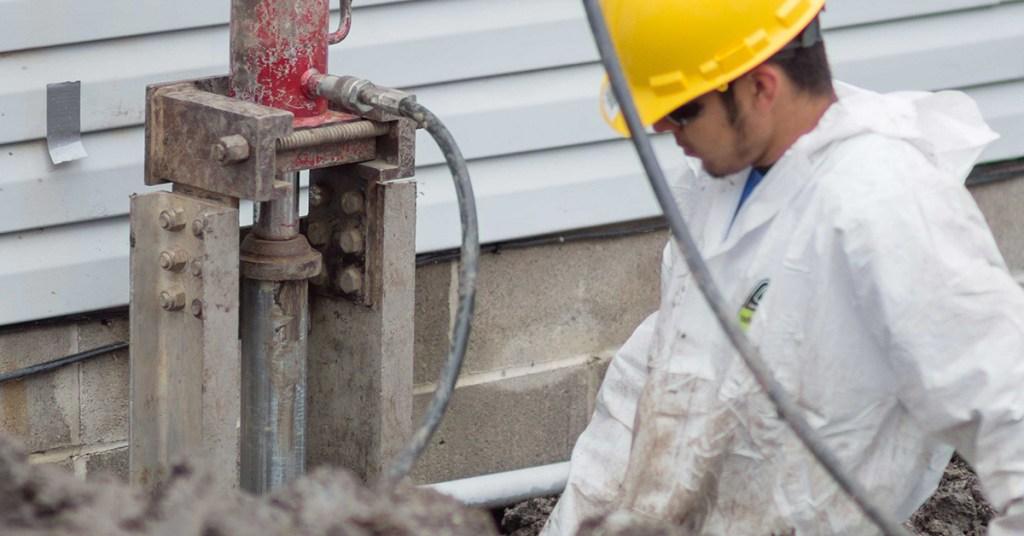 push piers foundation repair method
