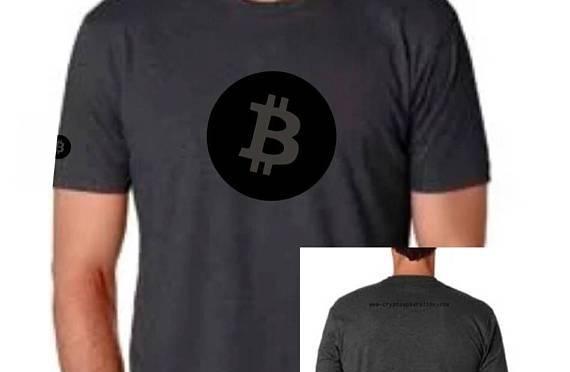 Bitcoin in black
