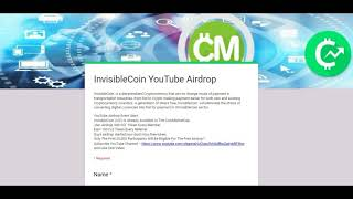 InvisibleCoin YouTube Airdrop Event Start.