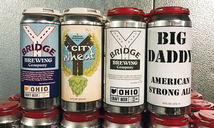 Y Bridge Brewing 4-packs of Y City Wheat and Big Daddy American Strong Ale.