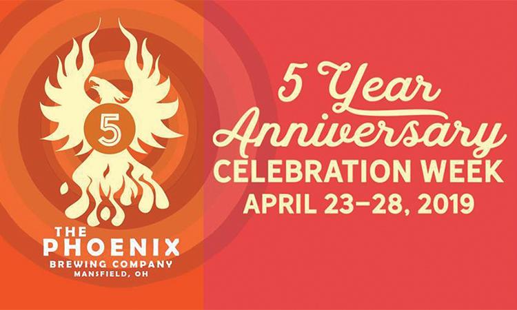 The Phoenix Brewing Company - 5 Year Anniversary Celebration Week April 23-28, 2019