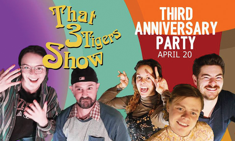 """Three Tigers Brewing - """"That 3 Tigers Show"""" Third Anniversary Party, April 20"""