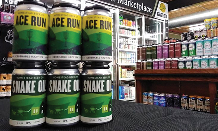 Homestead Beer Co. - Ace Run and Snake Oil cans